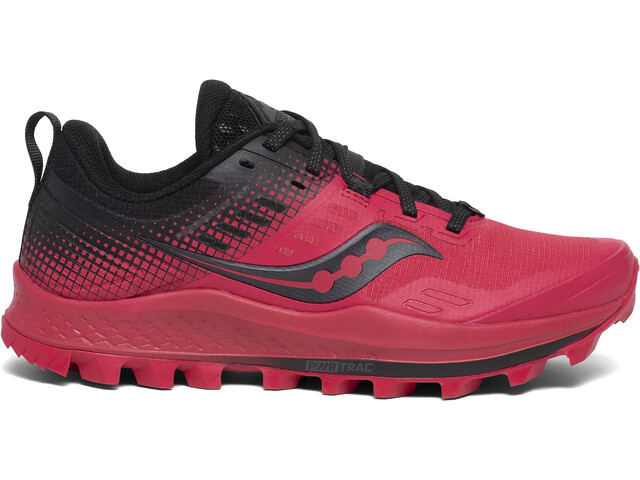 saucony Peregrine 10 ST Zapatillas Mujer, barberry/black